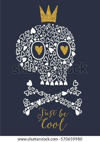 love skull vector