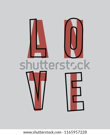 love slogan for t shirt printing, Graphic tee and printed tee