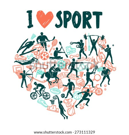 love sport concept with hand