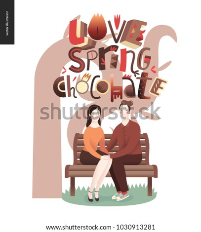 love spring chocolate slogan
