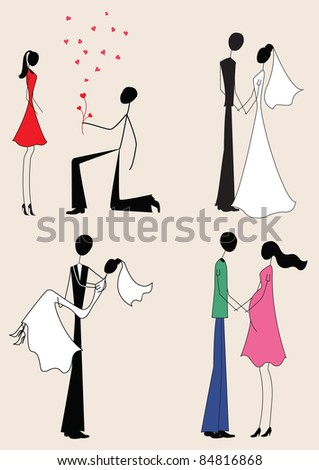 Love story: offer, marriage, pregnancy #84816868