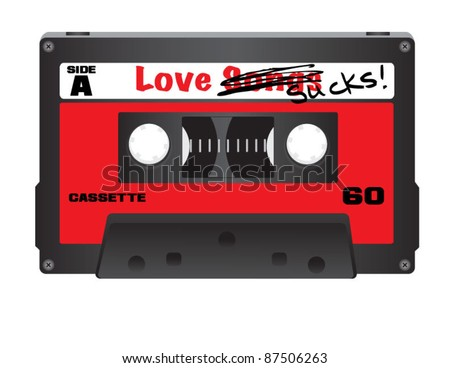 love sucks cassette tape