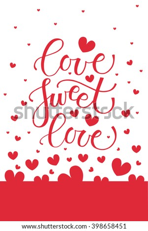 love sweet love text as