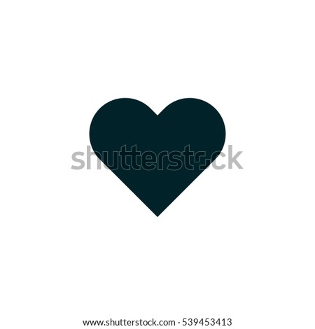 Love symbol. heart icon vector, solid logo illustration