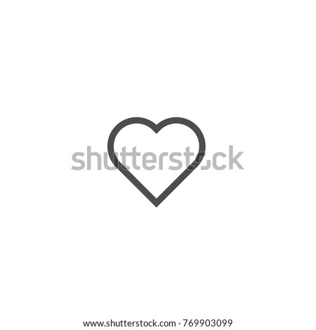 Love symbol, heart linear icon