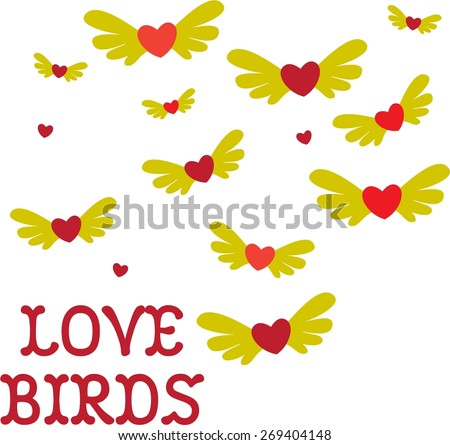 Love takes flight with these creative love birds.  Create a one of a kind celebration of a one of a kind love.
