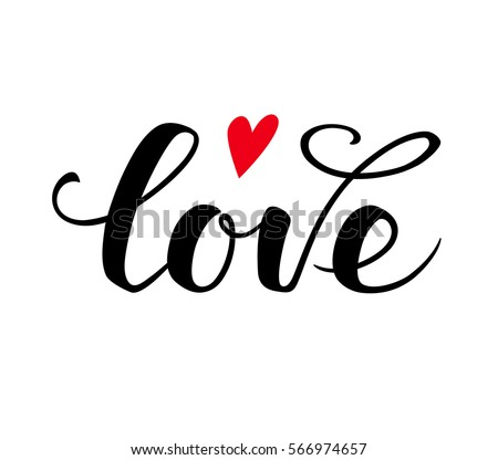 love text calligraphic