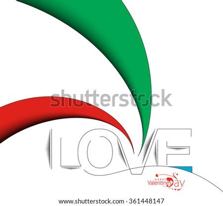 love text design  vector