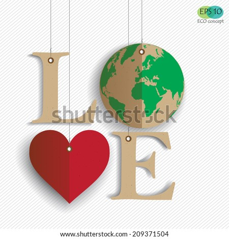 love the earth  design of