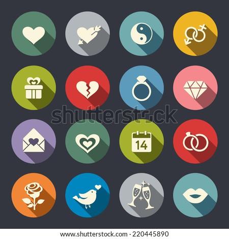 love theme icon set