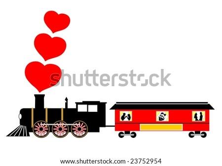 love train valentines vector illustration 23752954 shutterstock love train 450x337
