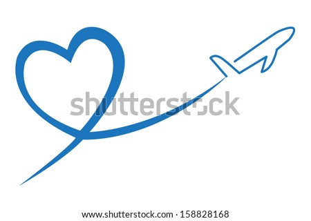 love travel concept illustration