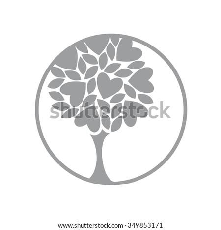 love tree ecology icon