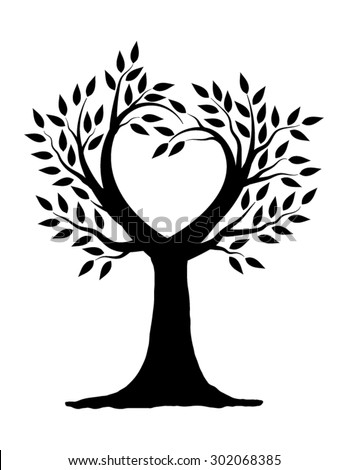 love tree illustration design