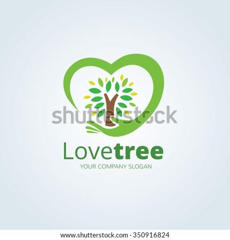love tree logo vector logo