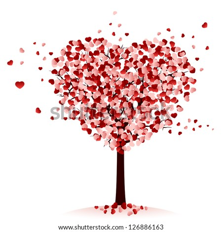 love tree on white background
