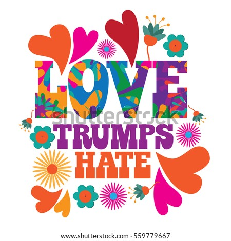 love trumps hate psychedelic