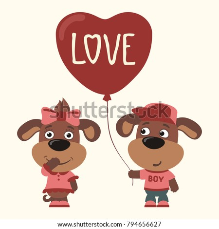 love two funny puppies dogs