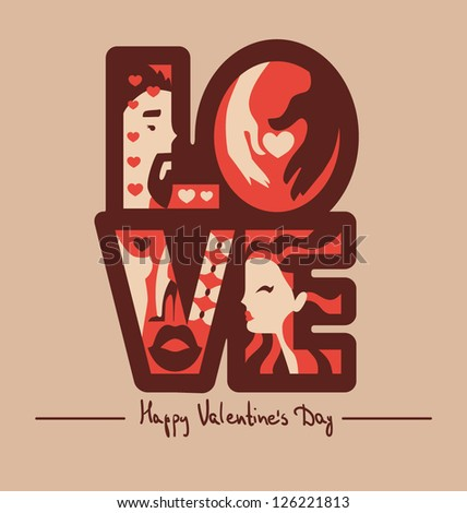 love typography background vector illustration eps 10