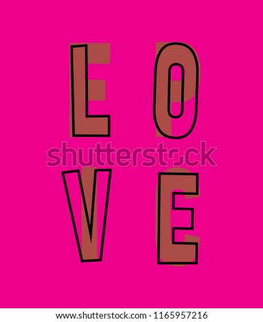 love typography slogan for t shirt printing, Graphic tee and printed tee