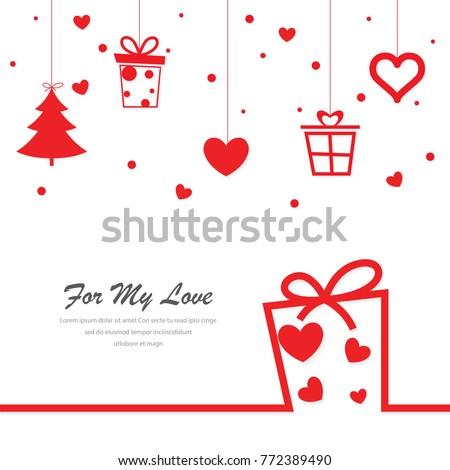 love valentine present,christmas present,giftbox background