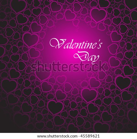 Love vector background made from pink hearts (valentine's day card)