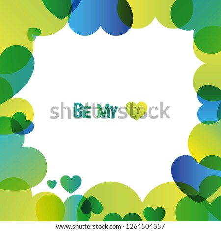 Love vector colorful square card with white backdrop