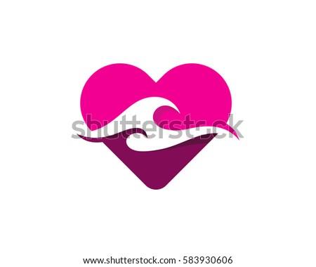 love wave logo design element