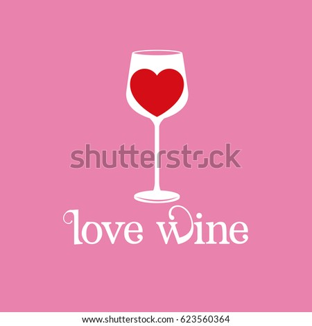 love wine glassware heart image