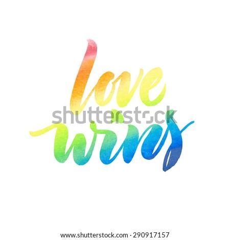 love wins conceptual image