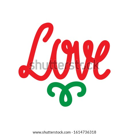 love word icon. flat illustration of love word vector icon. love word sign symbol