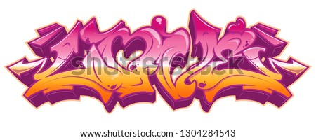 Love word in readable graffiti style in vibrant customizable colors. Isolated on white background.