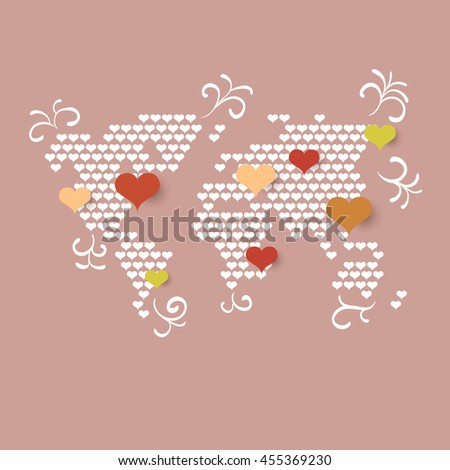 love world map background