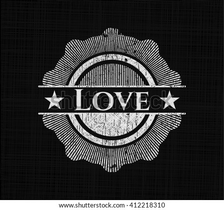 Love written with chalkboard texture