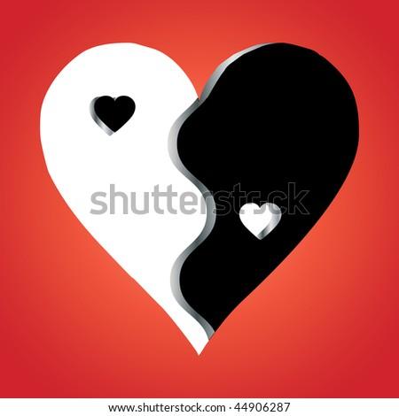 stock vector : Love Yin Yang