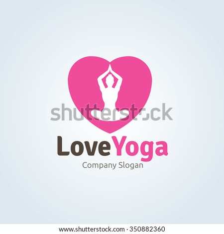 love yoga logo template
