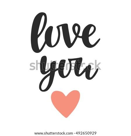 love you  hand written