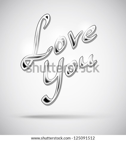 Love You Text - Handmade Lettering