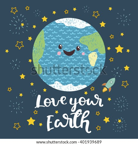 love your earth vector
