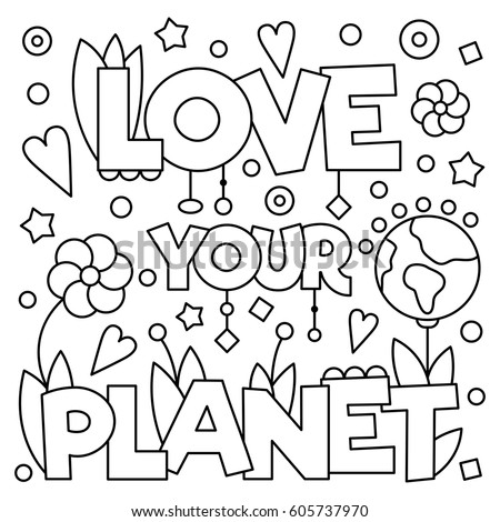 love your planet coloring page