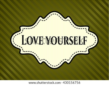 love yourself card with nice