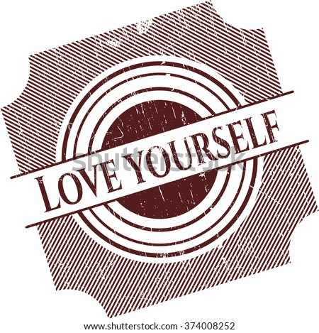 love yourself grunge stamp