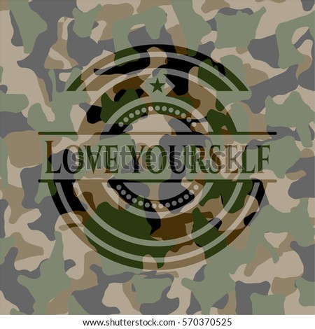 love yourself on camouflage