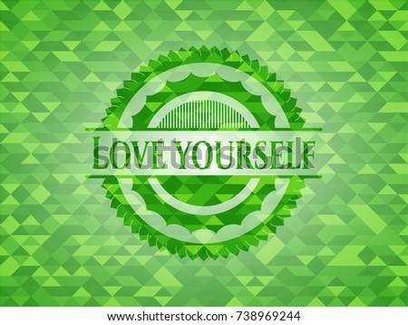 love yourself realistic green