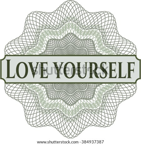 Love Yourself rosette