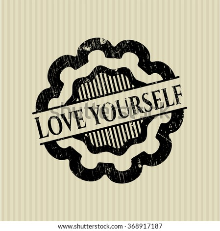 love yourself rubber grunge