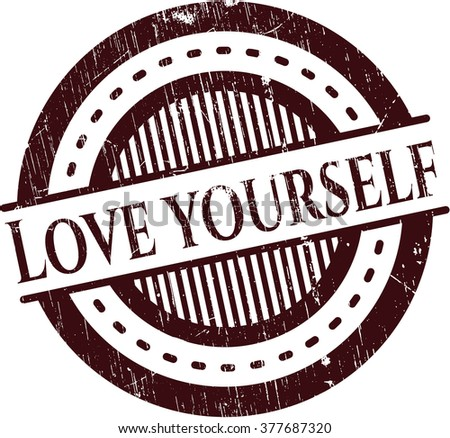 love yourself rubber stamp