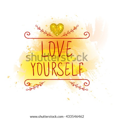 love yourself vector