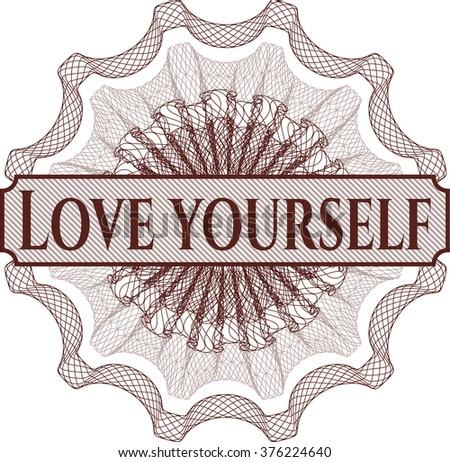 love yourself written inside