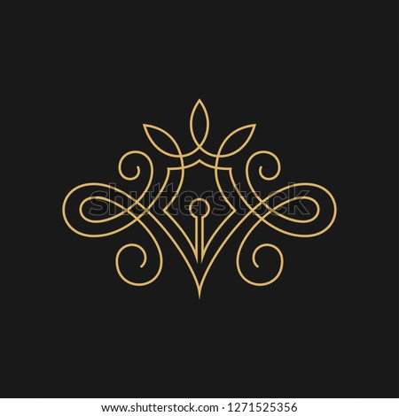 lovely Author or Writer vector Symbol image  Foto d'archivio ©